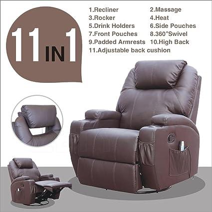 Amazon Com Massage Recliner Sofa Chair Ergonomic Deluxe Lounge