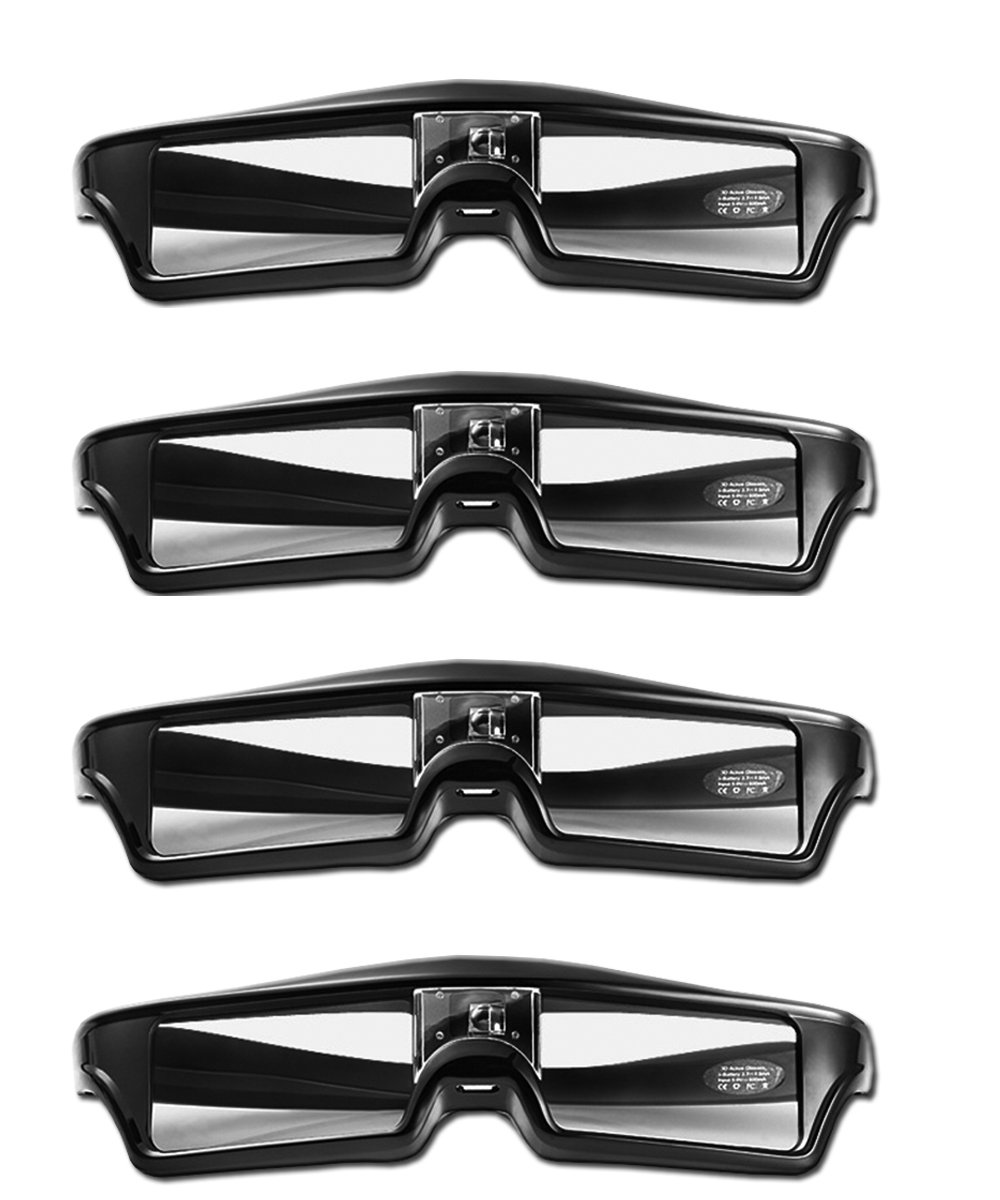 Goswot 144Hz Rechargeable DLP Active Shutter Eyewear for Optoma Acer Vivitek Dell LG and All The Other DLP-Link Projectors(Pack of 4)