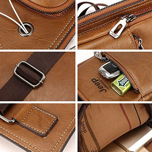 Amazon.com : iVotre PU Leather Chest Pack for Men Stylish Appearance Vintage Style Cross Body Bag Casual and Fashionable Shoulder Satchel Bag for Traveling, ...