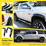 99 f150 fender flares - Pocket-Riveted Style ABS Black Fender Flares | 4pcs | For 1997-2003 Ford F-150; 2004-2005 F-150 Heritage only