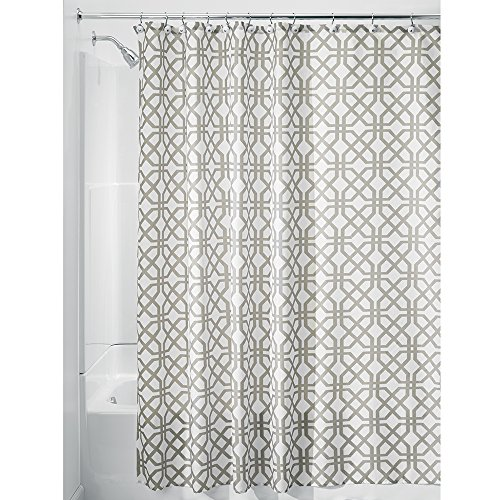 (InterDesign Trellis Shower Curtain, Stall-Sized Water-Repellent and Mold- and Mildew-Resistant Liner for Master, Guest, Kid's, College Dorm Bathroom, 54