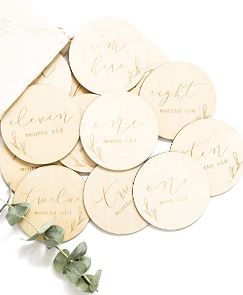 Wooden Baby Plaques 2 Assorted