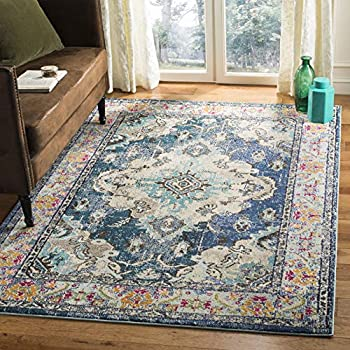 Safavieh Monaco Collection MNC243N Bohemian Chic Medallion Distressed Area Rug, 2' 2