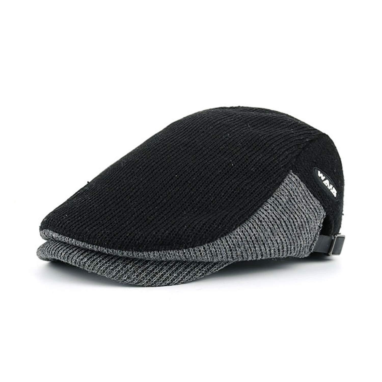 Winter Cotton Berets Caps for Men Casual Peaked Caps Berets Hats Casquette Cap Y035