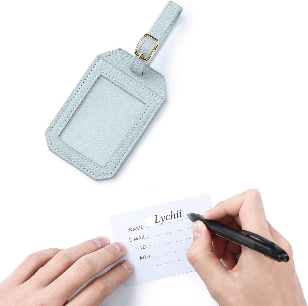 Carte dembarquement Lychii PU Voyage Protecteur Portefeuille Pochette /étui de Protection pour Passeport Carte didentit Portefeuille Passeport en Cuir pour Femme et Homme Bleu