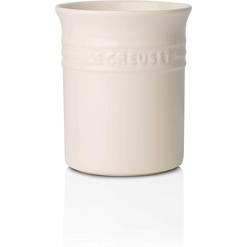 Le Creuset Stoneware Small Utensil Jar 1.1 L Almond Cream