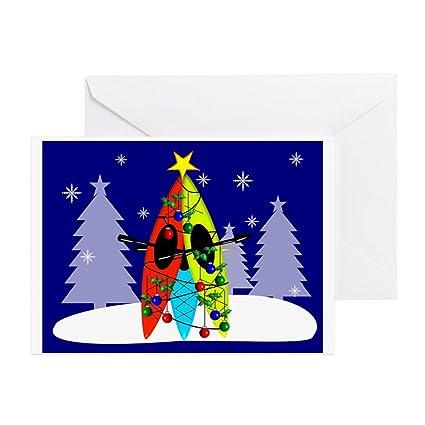 amazon com cafepress kayaking christmas card gails greeting