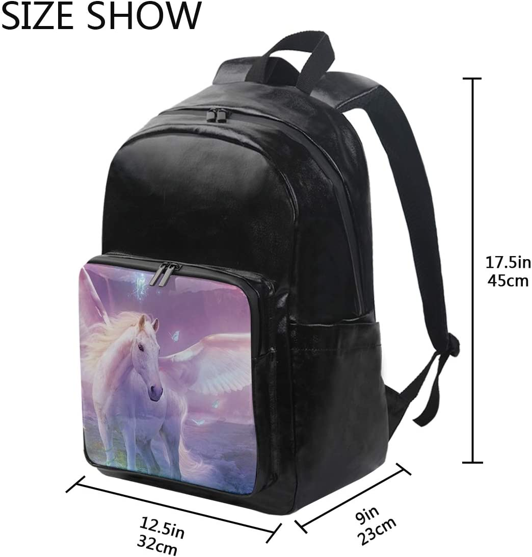 Pegasus Holds 12.5-inch Laptop Student Backpacks College School Book Bag Travel Hiking Camping Daypack for boy for Girl 12.5x9x17.5