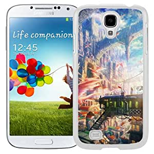 New Custom Designed Cover Case For Samsung Galaxy S4 I9500 i337 M919 i545 r970 l720 With Fantasy City Fantasy Mobile Wallpaper (2) Phone Case