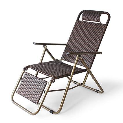 ACZZ de pliante Chaise d Tube métal Chaise longue en jardin PnX0w8Ok