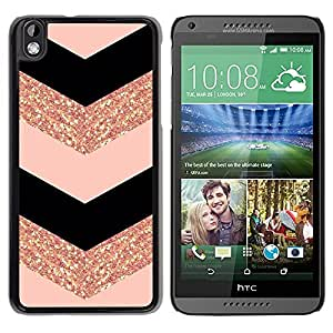 Impact Case Cover with Art Pattern Designs FOR HTC DESIRE 816 Chevron Dress Fashion Glitter Gold Pattern Betty shop