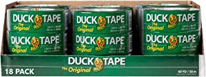 The Original Duck Tape Brand 1042019 Duct Tape, 18-Pack 1.88 Inch x 60 Yard, 1080 Total Yards Silver