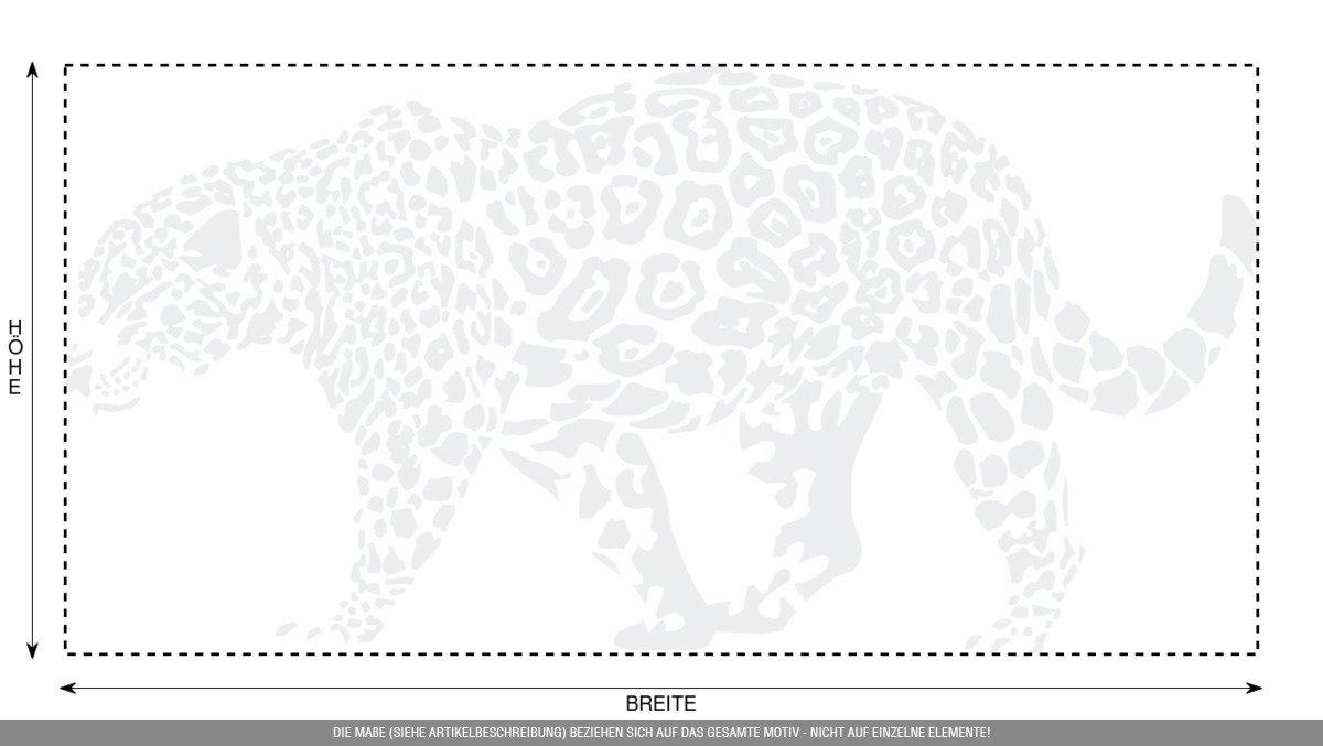 CLICKANDPRINT Aufkleber » Leopard, 150x74,4cm, Türkis • Wandtattoo     Wandaufkleber   Wandsticker   Wanddeko   Vinyl B073X8JSWS Wandtattoos & Wandbilder 5e1976