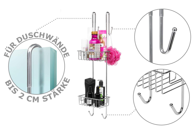 duschregal edelstahl zum hngen simple bamodi duschablage zum hngen edelstahl rostfrei. Black Bedroom Furniture Sets. Home Design Ideas