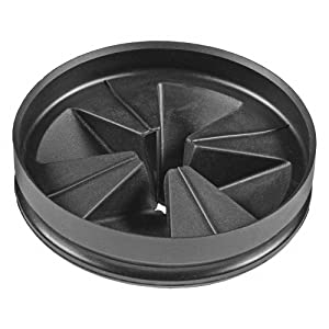 InSinkErator QCB-AM Anti-Microbial Quiet Collar Sink Baffle, Black
