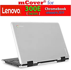 "mCover Hard Shell Case for 2019 11.6"" Lenovo 300E (2nd Gen.) 2-in-1 Chromebook Laptop (NOT Fitting Lenovo 300E Windows & N21 / N22 / N23 /100E / 500E Chromebook) (Clear)"