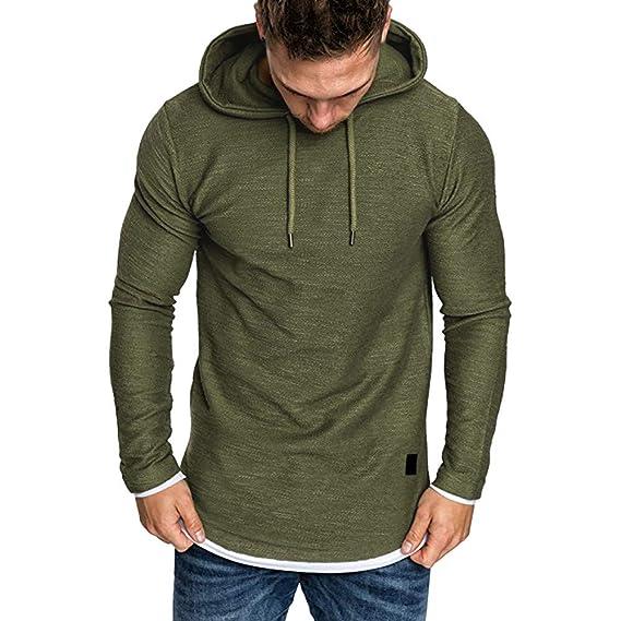 VRTUR Herren Hoodie Sweatshirt Weihnachten Rentier Stil Plus