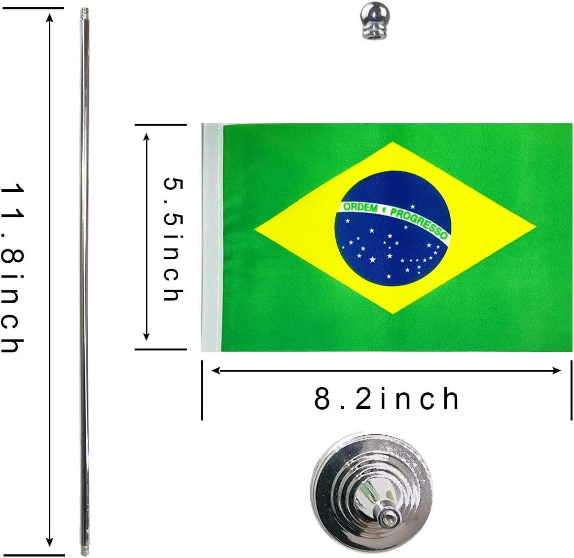 GentleGirl Brazil Flag Brazilian Flag Table Flag,Desk Flag,Office Flag,International World Country Flags Banners,Festival Events Celebration,Office Decoration,Desk,Home Decoration: Garden & Outdoor
