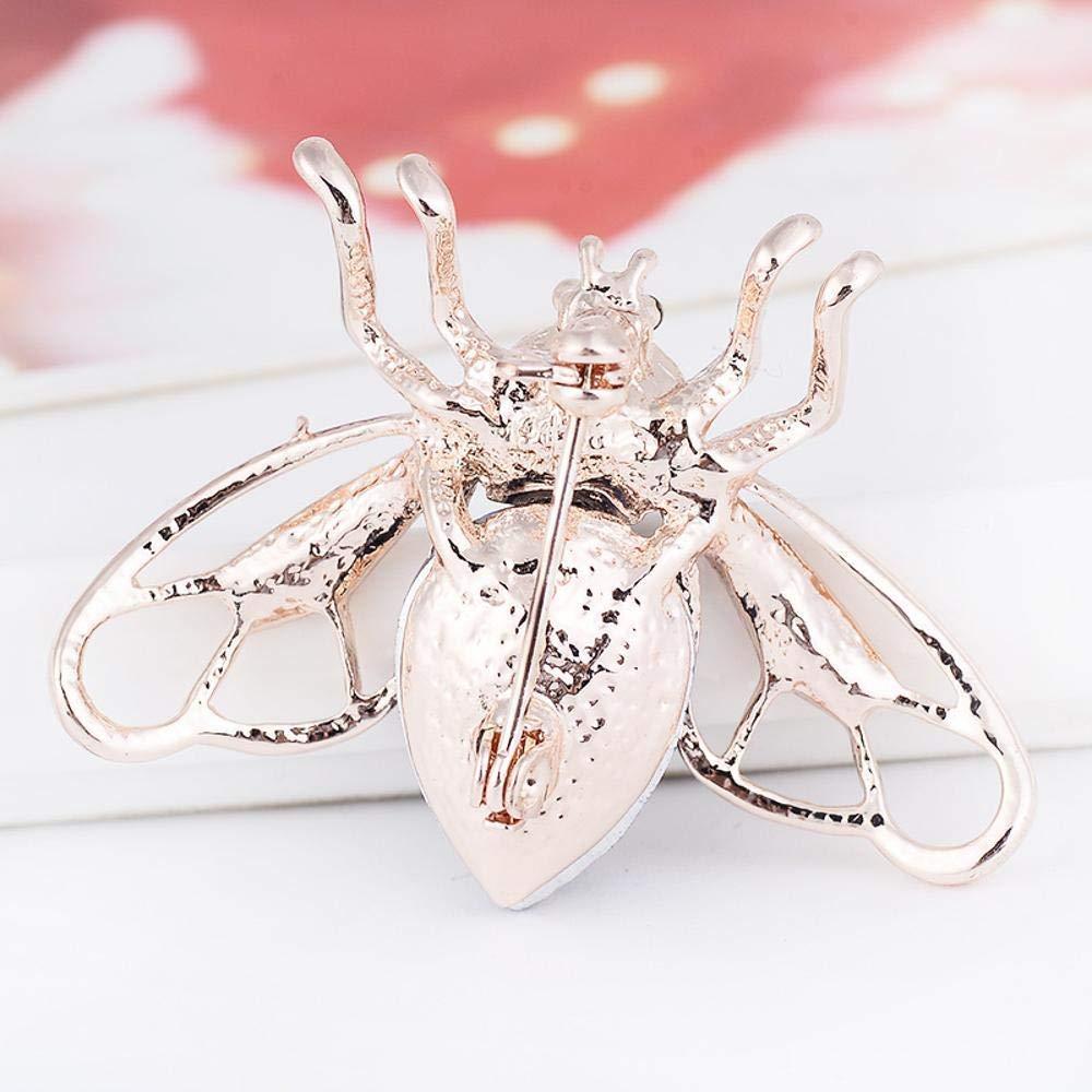 Desti Flakes Brooch Jinchan Brooch cicada Inlaid Crystal Brooch Thorn Horse Needle Batch Autumn and Winter
