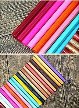 Tikwisdom 10 Siegelwachs-Stangen f/ür Hei/ßklebepistole vintage verschiedene Farben 10 Farben