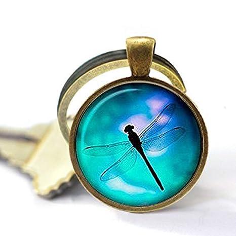 Llavero de libélula con diseño de libélula, llavero de ...