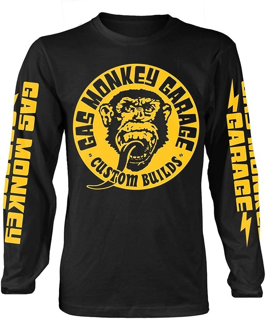 Gas Monkey Garage Big Yellow Logo (Negro) Camisa de Manga Larga: Amazon.es: Ropa y accesorios