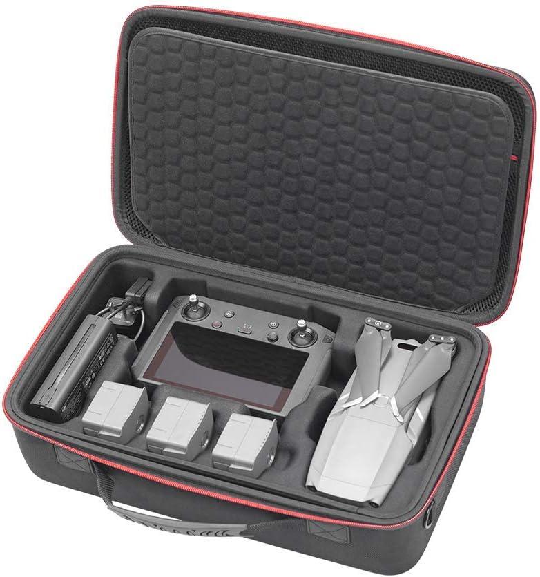 RLSOCO Funda para dji Mavic 2 Pro/Mavic 2 Zoom & dji Smart Controller-Apto para Mavic 2 Accesorios : Controller, 5 x Batería, Cargador de Batería, Tabletas y más (Puede Poner Bloqueo TSA)