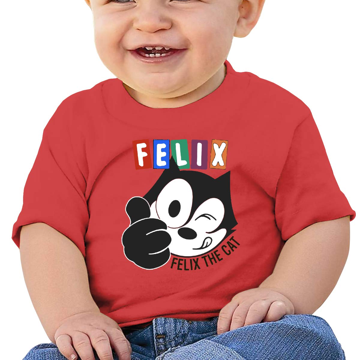Boys Girls Shirts Smart Felix The Pussy Cat Baby Tees Unique Red Tank Tops for Boys
