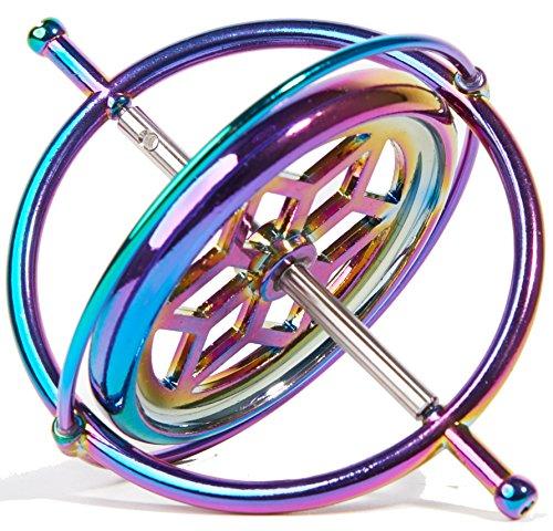 Joytech Precision Gyroscope Kill Time Metal Anti-Gravity Spinner Balance Toy Colorful JA05 by Joytech (Image #1)