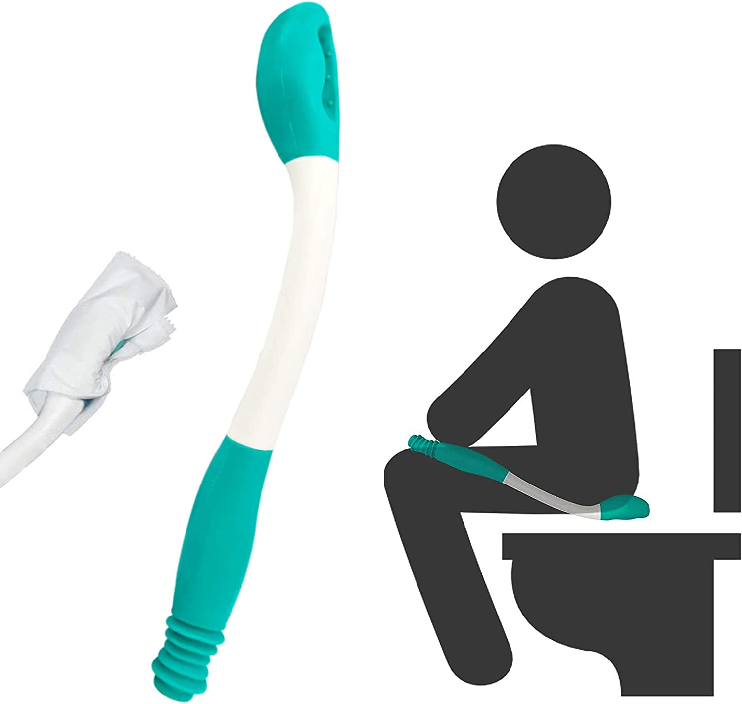 Amazon.com: Kirimon Long Reach Comfort Toilet Wiping Aids Tools - Self  Assist Bathroom Bottom Buddy Wiping Toilet Aid for Limited Mobility,Elderly,  Pregnancy,Disabled, Arthritis,Shoulder or Back Pain,Surgery: Health & Personal  Care