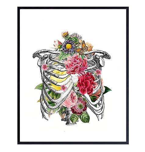 Flower Illustration Artistic Gifts Cool Gifts Vintage Print Bedroom Art Floral Print Flower Poster Famous Art Scientific Print