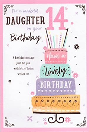 Wonderful Daughter 14th Birthday Card ICG 7145