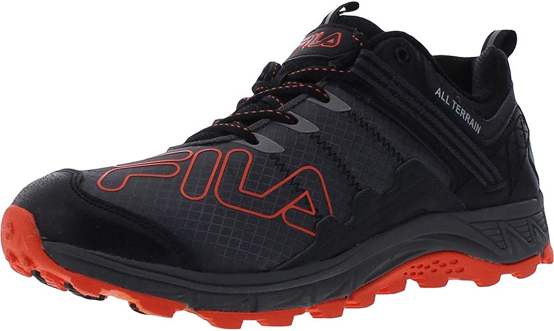 Fila Blowout 19 Trail Castlerock/Black/Red Orange 7.5 ...