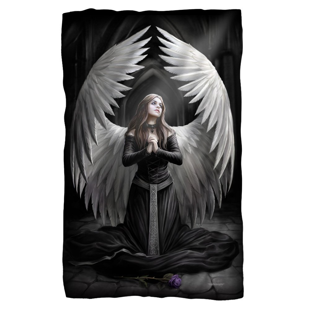 Anne Stokes Prayer For The Fallen Dark Angel Goth 36 x 58フリース毛布 B06XF57SJN