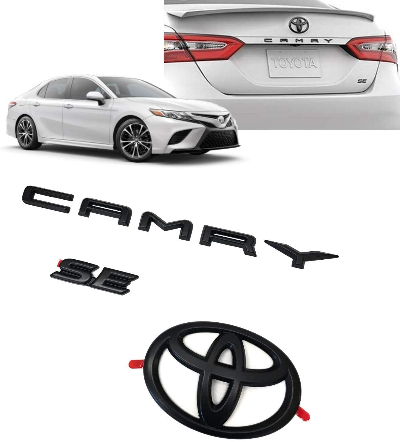 00016-32094 2018-2020 TOYOTA CAMRY XSE BLACK OUT EMBLEM OVERLAY KIT