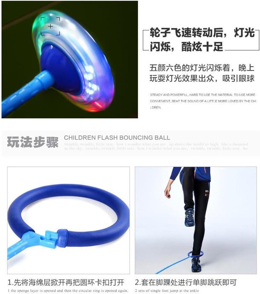DS Styles Enfant Clignotante Saut Bague color/é Cheville Skip Jump Cordes Sports Swing Boule