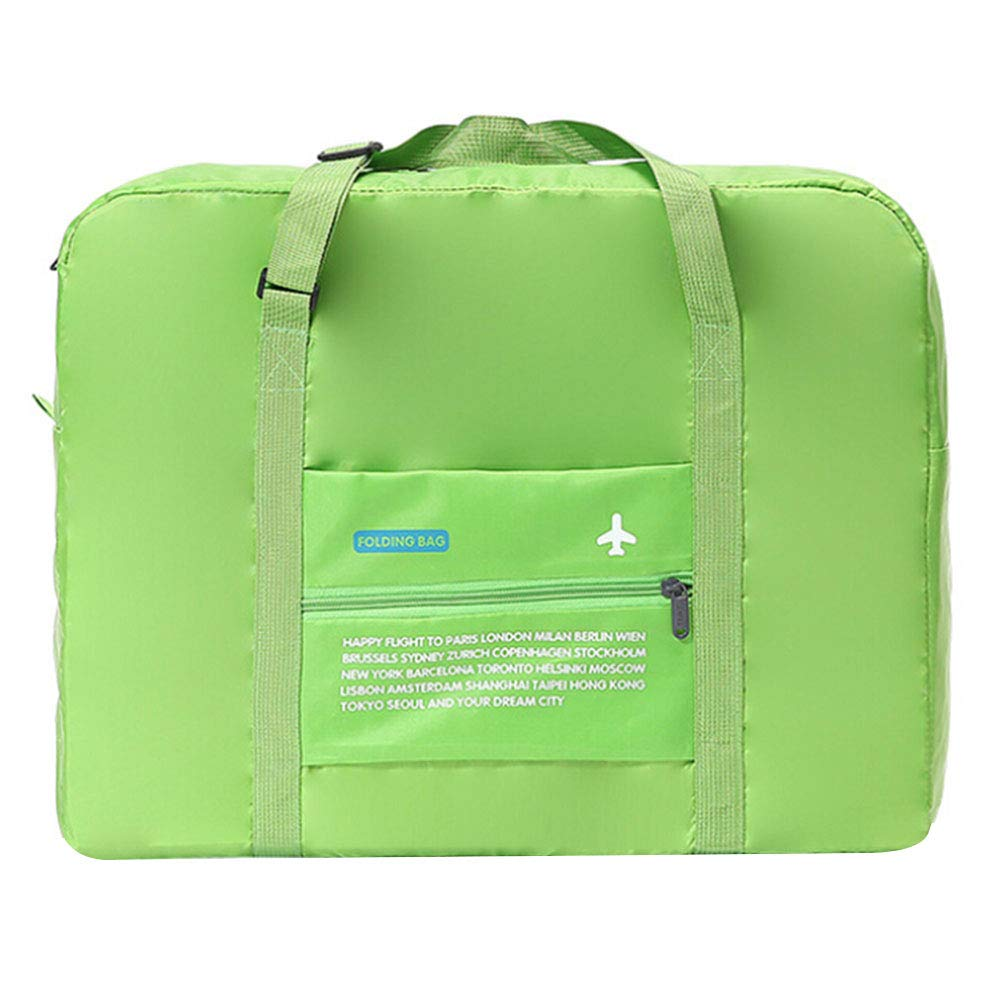 Mobile Travelbag Foldable Tote Large Capacity Storage Luggage Bag with Zipper (Green)