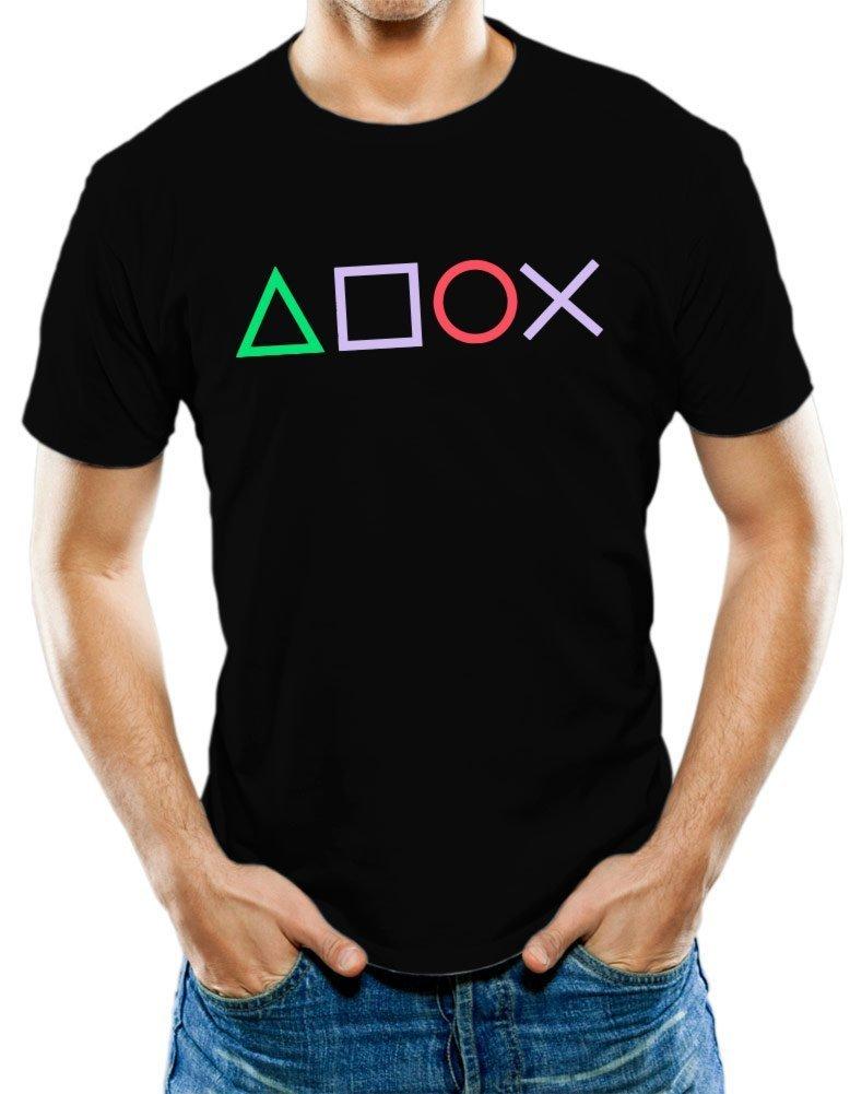 Universal Apparel Men's Playstation Gamer T-Shirt Small Black