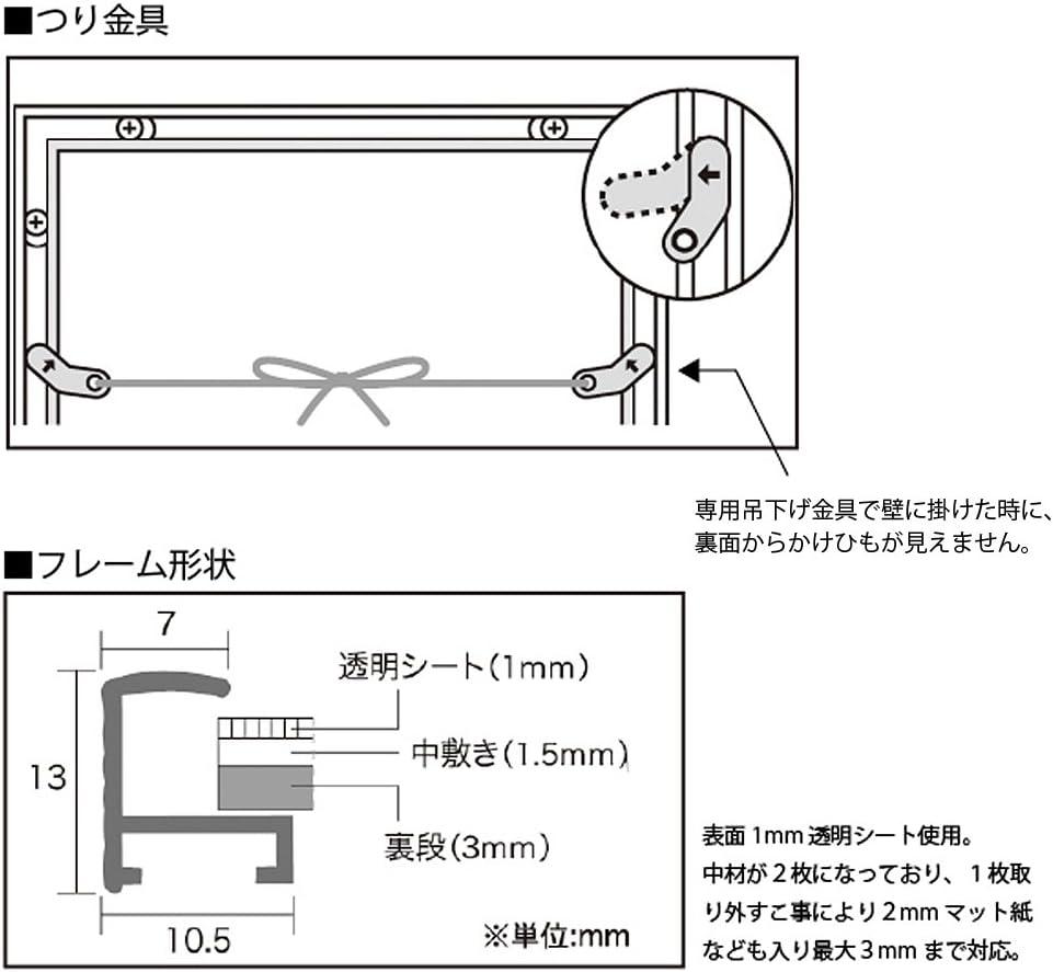 257X364mm APJ fit frame B4 japan import Black