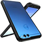Huawei Honor 7X Case, Huawei Mate SE Case, OUBA [Shock Absorption] Air Hybrid Armor Defender Protective Case and Crystal Clear Back Cover for Huawei Honor 7X (2017)/Huawei Mate SE (2018) - Black