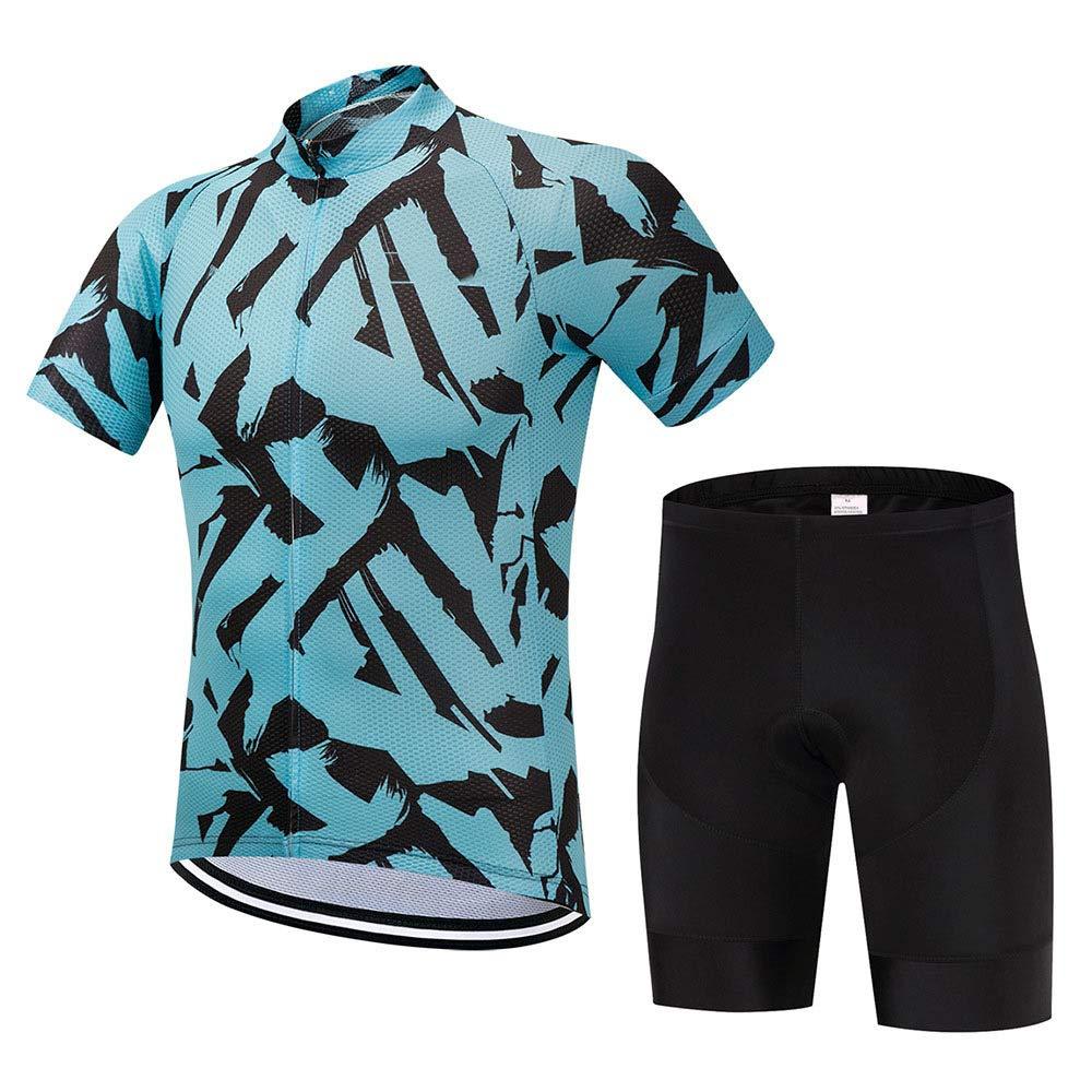 C Large Laogg Mens Short Sleeve Cycling Jersey Mountain Bike MTB Shirt Biking Cycle Tops Racing Bicycle Clothes