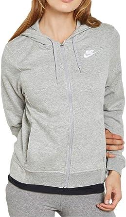 Nike Womens Loose Fit Full Zip Hoodie Hooded Shirt CI1148: Amazon ...