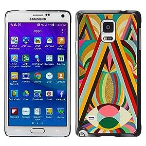 [Neutron-Star] Snap-on Series Teléfono Carcasa Funda Case Caso para Samsung Galaxy Note 4 [Patrones ojo amarillo Colores Negrita caliente]