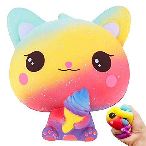 Blesser Squishy Gato, Anti Stress Squishy Jumbo Juguete Hielo Kawaii Galaxy Pas Slow Rising Toy