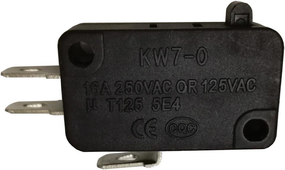 20pcs 16 A 250 VAC/125VAC T125 5e4 Interruptor Micro Microinterruptor interruptores para electrodomésticos KW7 - 0