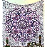 Handicrunch Ombre Mandala Tapestries Hippy Hippie Wall Hanging Wall Tapestries Indian Mandala Tapestries Bohemian Tapestry Sofa Cover Beach Blanket Dorm Decor Wall Art