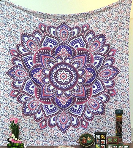 Pink Ombre Tapestry Pink & Purple Mandala Tapestries for
