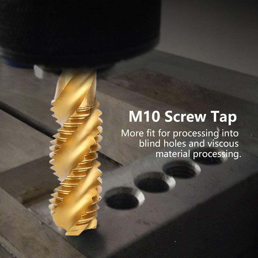 Hardware Accessory Tap Drill Bit Spiral Fluted Tap Hand Tool Taps Tool Spiral Tap M101.5mm for Steel Plate Processing Stainless Steel