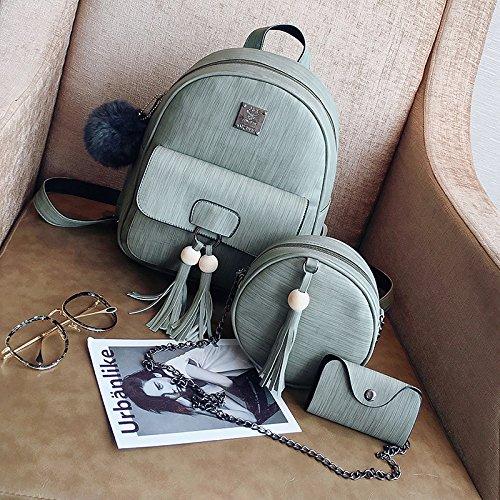 b204831bbe SJMMBB Due borsa a a a tracolla donna tre nuovi pezzi di degli studenti  delle scuole intermedie zainetto,grigio, 26cm10cm31cm 699402