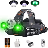 Boruit Ultra Bright 5000 Lumens LED Headlamp for Running, Camping, Hiking